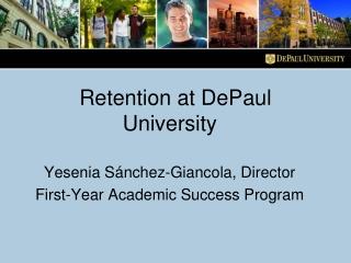 Retention at DePaul University