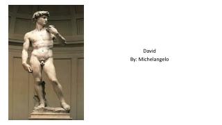 David By: Michelangelo
