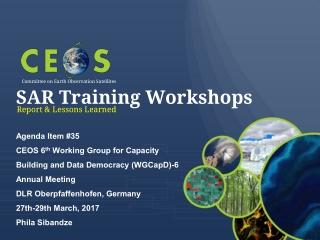 SAR Training Workshops