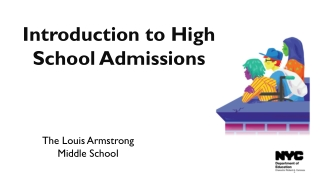 Introduction to High School Admissions