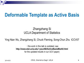 ppt - deformable template as active basis zhangzhang si ucla, Presentation templates