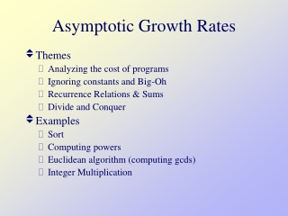 Asymptotic Growth Rates