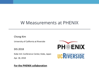 W Measurements at PHENIX