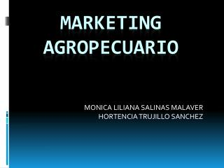 MARKETING AGROPECUARIO