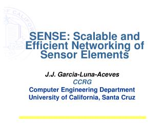 SENSE: Scalable and Efficient Networking of Sensor Elements