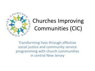 Churches Improving Communities (CIC)