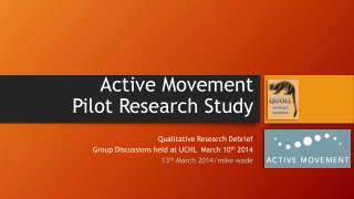 Active Movement Pilot Research Study