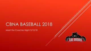 CBNA Baseball 2018