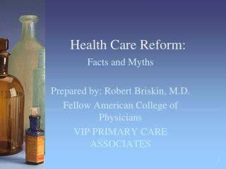 Health Care Reform: