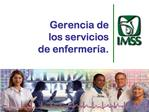 Gerencia de los servicios de enfermer a.