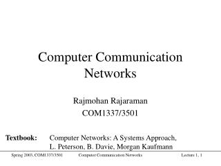 Computer Communication Networks