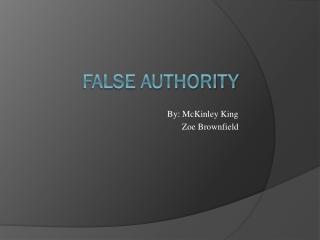 False Authority