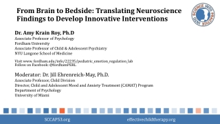 From Brain to Bedside: Translating Neuroscience Findings to Develop Innovative Interventions