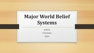 Major World Belief Systems