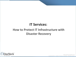 IT Services:  How to Protect IT Infrastructure with Disaster
