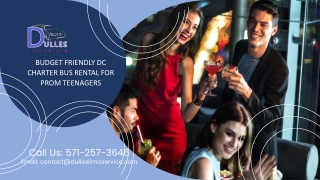 Budget Friendly DC Charter Bus Rental for Prom Teenagers