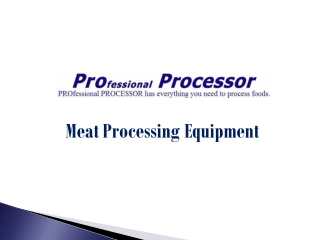 Shop Wide Range of Meat Processing Equipment Online