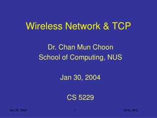 Wireless Network  TCP