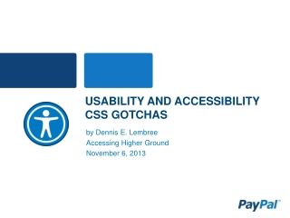 Usability and Accessibility CSS Gotchas
