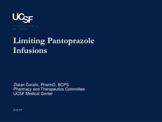 Limiting Pantoprazole Infusions