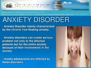 Anxiety Disorder Treatment by Specialists