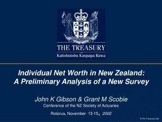Individual Net Worth in New Zealand:  A Preliminary Analysis of a New Survey  John K Gibson  Grant M Scobie  Conference