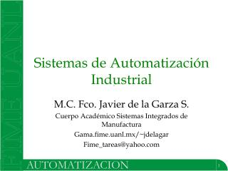 Sistemas de Automatización Industrial