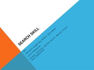 SEARCH SKILL