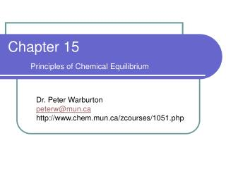 Chapter 15 Principles of Chemical Equilibrium