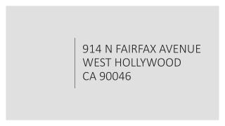 914 N FAIRFAX AVENUE WEST HOLLYWOOD CA 90046