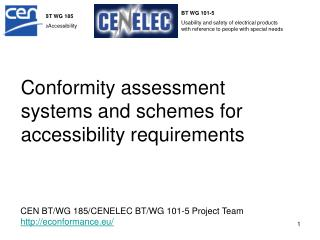 Conformity assessment systems and schemes for accessibility requirements