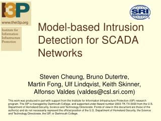 Model-based Intrusion Detection for SCADA Networks
