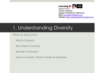 1. Understanding Diversity