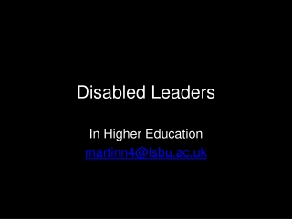 Disabled Leaders