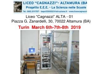 """Liceo """"Cagnazzi"""" ALTA - 01 Piazza G. Zanardelli, 30, 70022 Altamura (BA)"""