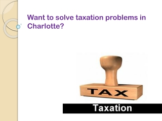 How to solve taxation problem