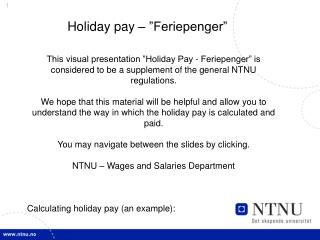 "Holiday pay – ""Feriepenger"""