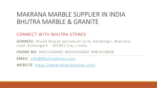 Makrana Marble Supplier in India Bhutra Marble & Granite