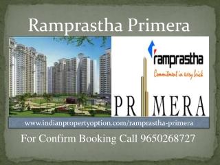 Ramprastha Primera For Booking Call 9650268727
