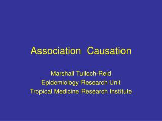 Association Causation