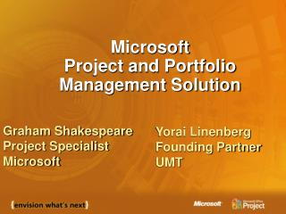 Microsoft Project and Portfolio Management Solution