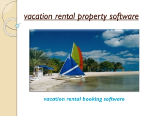 vacation rental property software
