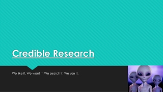 Credible Research