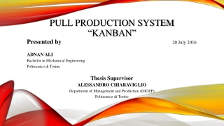 """Pull Production System """"Kanban"""""""