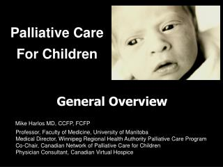 Palliative Care For Children