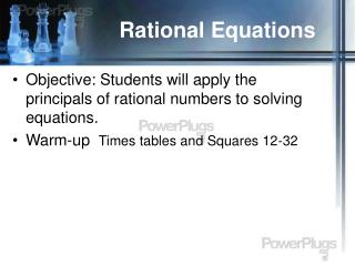 Rational Equations