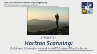 S YNDICATE 7 Horizon Scanning: