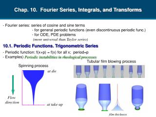 Chap. 10.  Fourier Series, Integrals, and Transforms