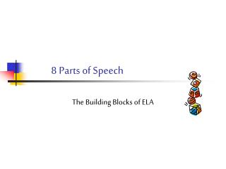 8 Parts of Speech