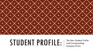 Student Profile: